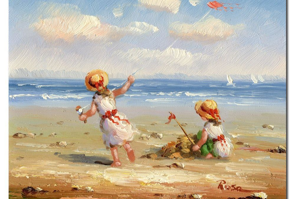 At the Beach I by Master's Art, 26x32-Inch Canvas Wall Art